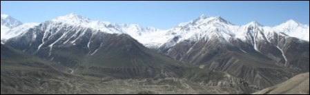 Pamir mountains in Afghanistan